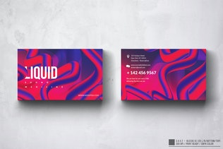 Liquid Sounds Business Card Design