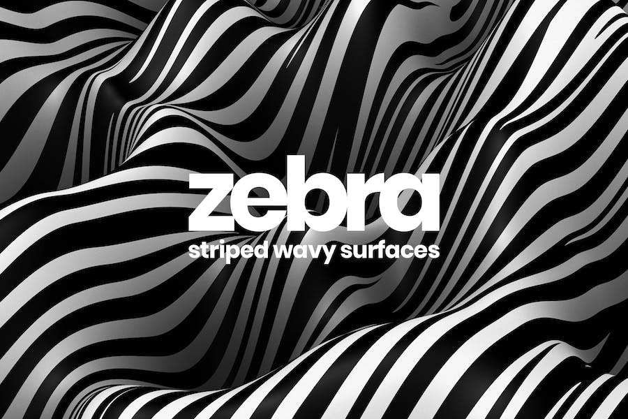 Striped Wavy Surfaces
