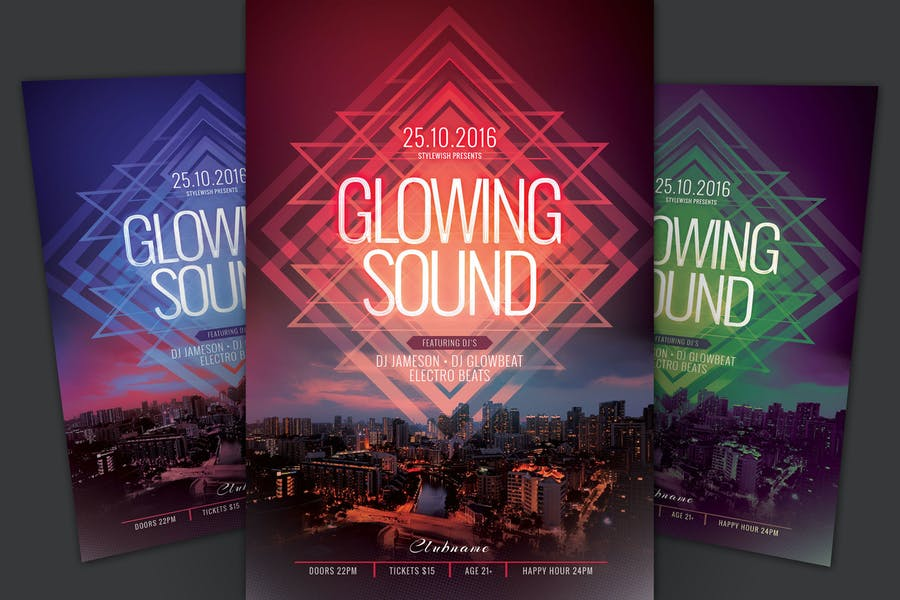Glowing Sound Flyer