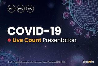 COVID-19 Corona Virus Live Count Powerpoint