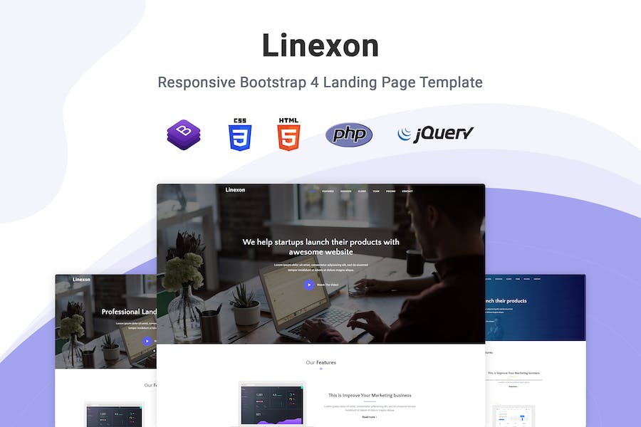 Linexon – Bootstrap 4 Landing Page Template by themesdesign