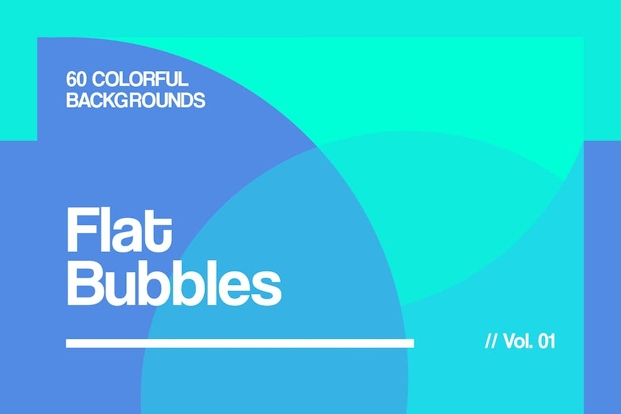 Flat Bubbles | Colorful Backgrounds | Vol. 01