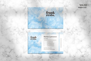 Business Card Watercolor Vol. 33