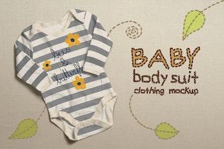 Baby Bodysuit Clothing Mock-up