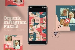 Organic Instagram Puzzle Post