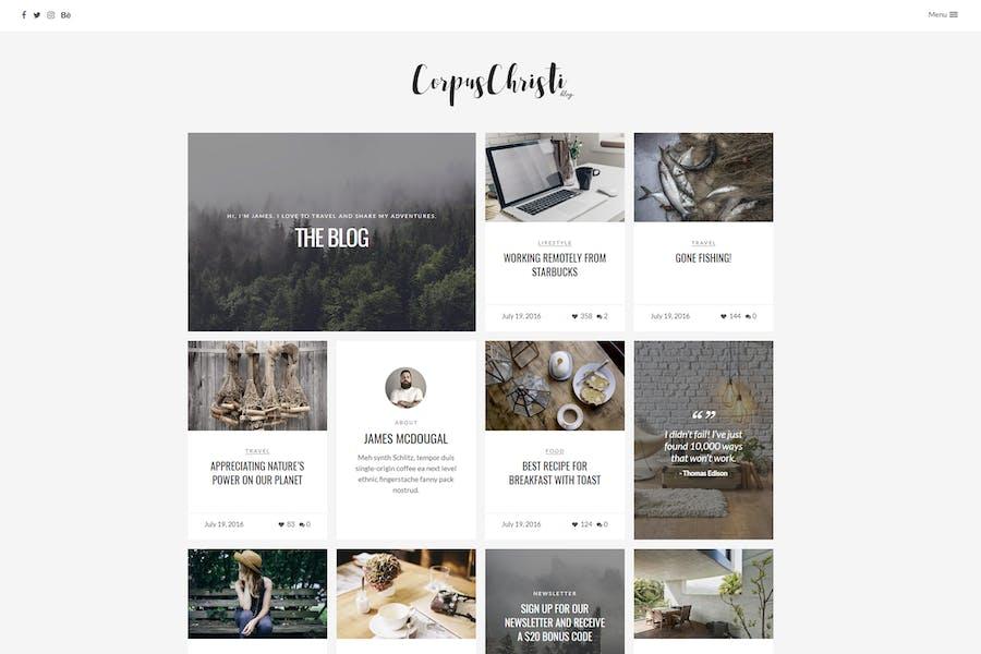 CorpusChristi - Modern Blog WordPress Theme