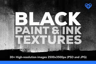 30 Black Paint and Ink Textures