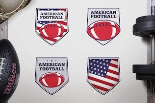 Vintage American Football Logos / USA Sports Badge