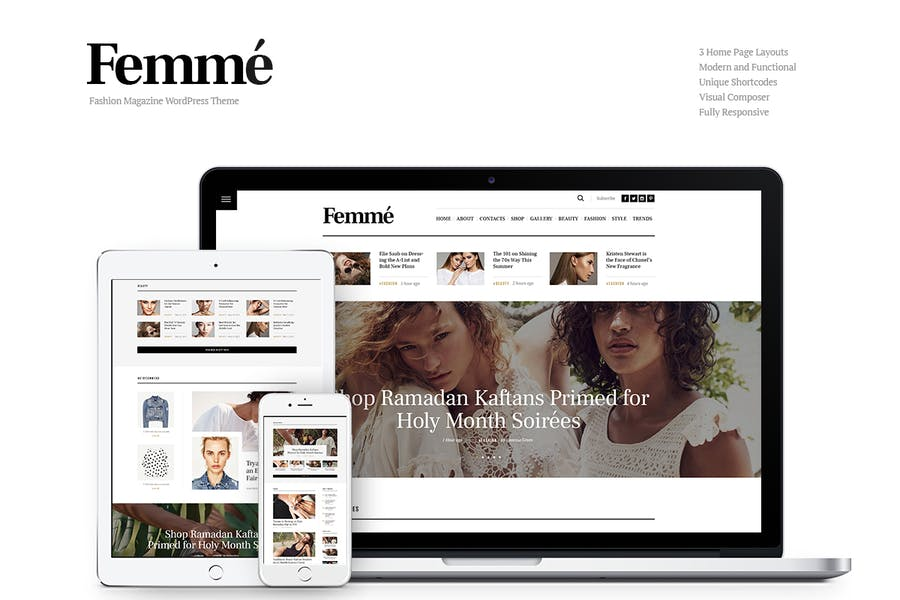 Femme - Online Magazine & Fashion Blog WP Theme