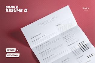 Simple Resume/Cv Volume 4