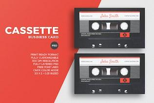 Cassette Business Card Template