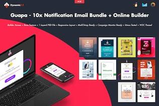 Guapa - 10x Notification Email Bundle + Builder