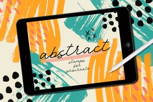 Procreate: Abstract Stamp Brushes