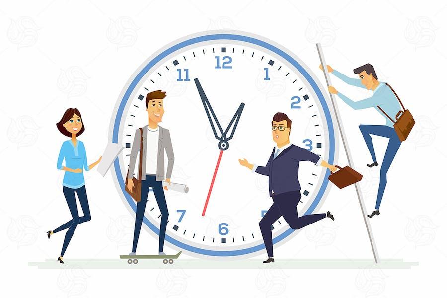 Time management - modern illustration