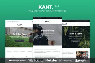 Kant - Responsive Email for Startups 50+ Sections