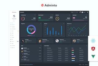 Adminto - Admin Dashboard + Angular, React, Vuejs