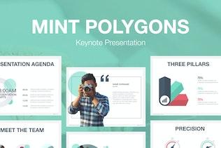 Mint Polygons Keynote Template