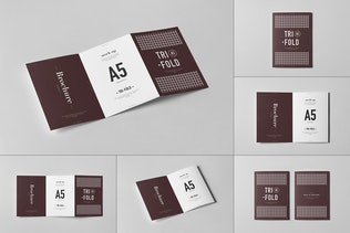 Tri-Fold A5 Brochure Mock-up 2