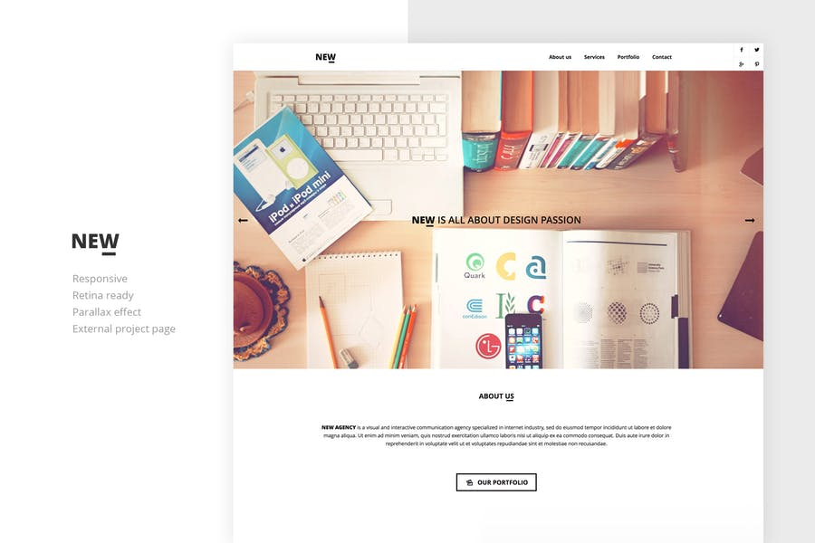 NEW Creative One Page Template