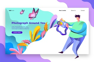 Photography - Banner & Landing Page