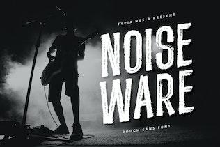 Noiseware - Handbrushed Font