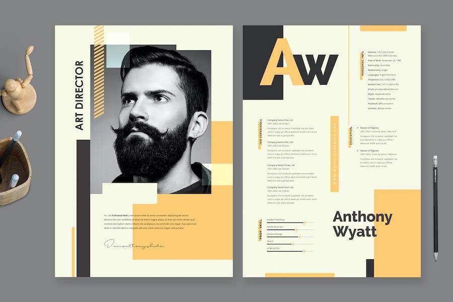 Creative Resume / Cv Template 34