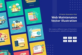 Web Maintenance Vector Illustration