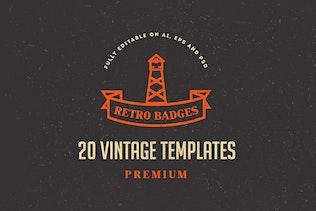 20 Vintage Logos & Badges