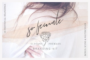 So Female Branding Kit + Icons & Watercolours