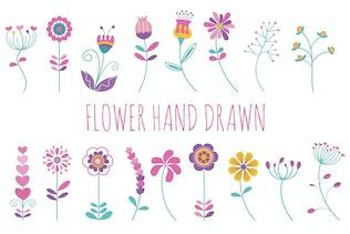 Flower Hand Drawn