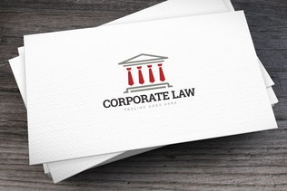 Corporate Law Logo Template