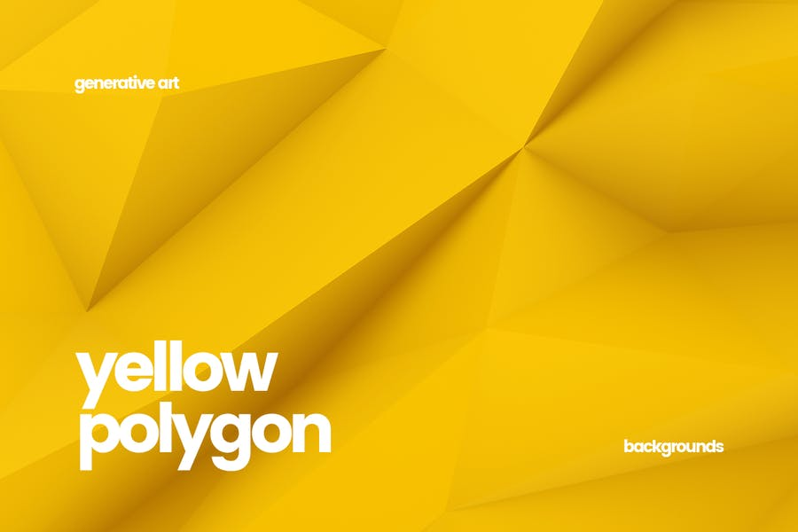Yellow Polygon Backgrounds