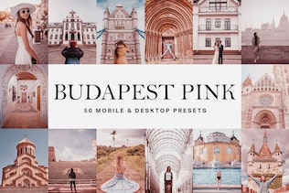 50 Budapest Pink Lightroom Presets and LUTs