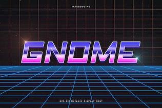Gnome - Retro Wave Typeface