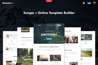 Escape - Responsive Email + Template Builder