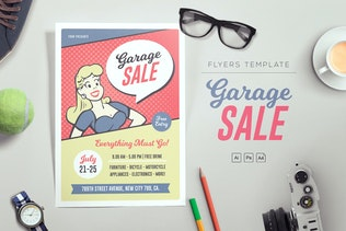 Pop Art Garage Sale Flyers