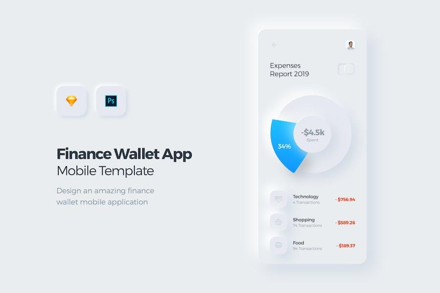 Finance Wallet Mobile App UI Kit Template