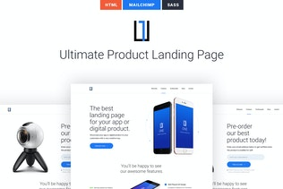 One - HTML Product Landing Page