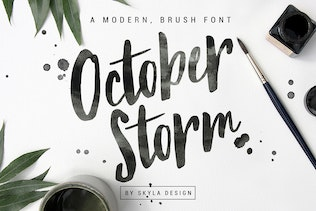 Modern brush font - October Storm
