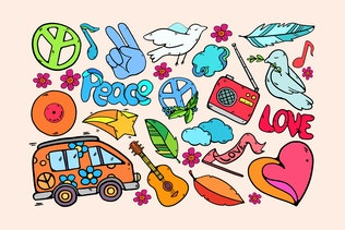 Hippie Paradise Clipart
