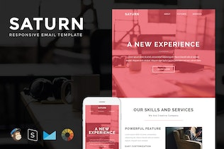 Saturn - Responsive Email + StampReady Builder