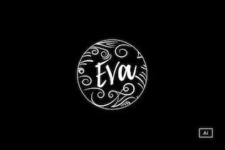Chalkboard Style Logo Template
