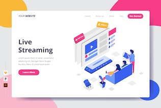 Live Streaming - Landing Page