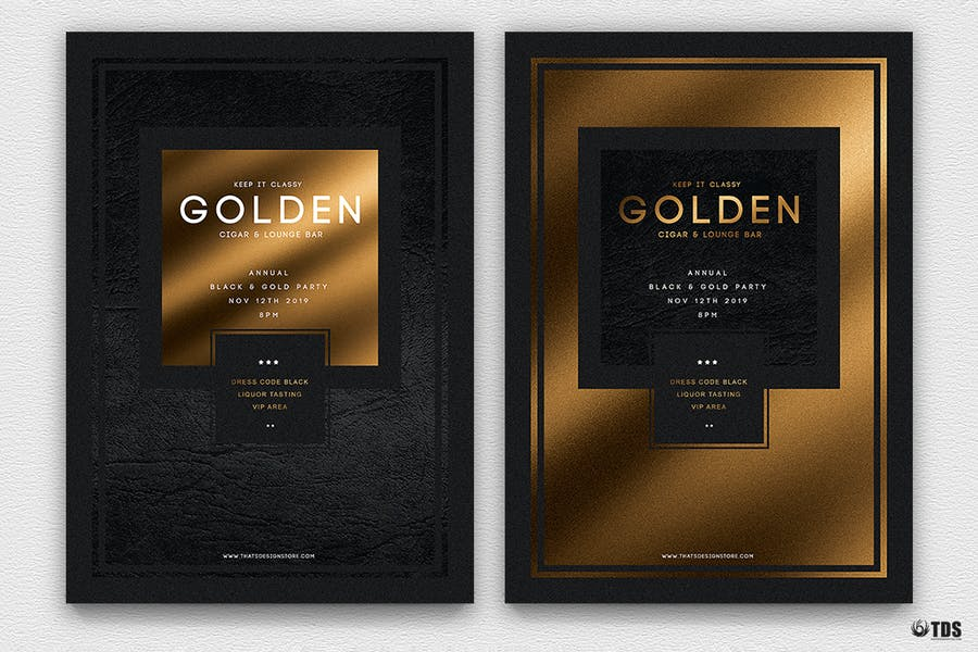 Minimal Black and Gold Flyer Template V1