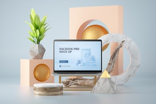 Abstract Macbook Pro Mockup vol.01