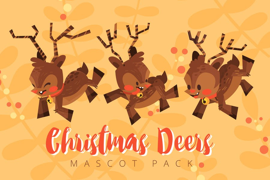 Christmas Deer Mascot Pack