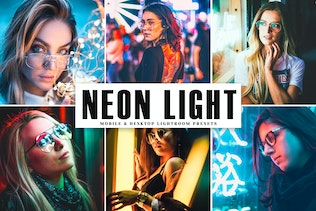 Neon Light Mobile & Desktop Lightroom Presets