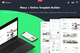 Masy - Minimalistic Furniture Email + Builder