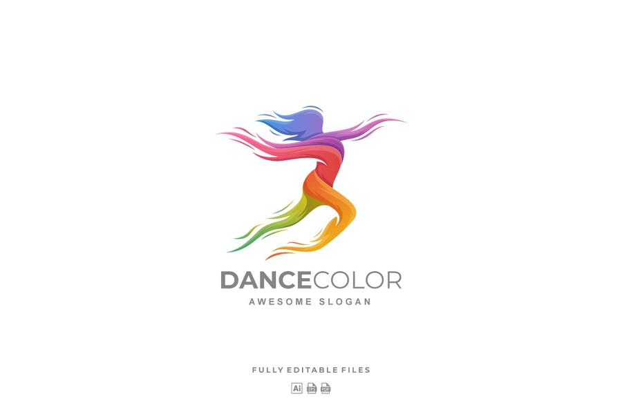Dance Color Gradient Logo
