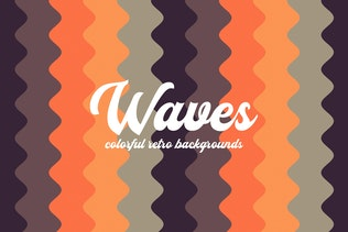 Colorful Vertical Retro Waves Backgrounds